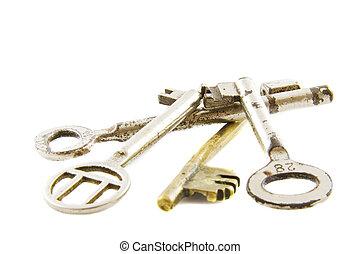 kulcsok, cölöp, öreg