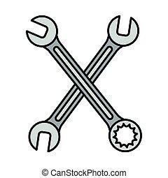 kulcsok, eszközök, keresztbe tett, ficam