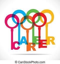 kulcsok, karrier, csinál, csoport, színes