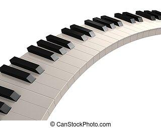kulcsok, zongora