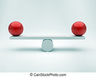 kule, dwa, równowaga
