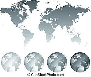 kule, mapa, świat