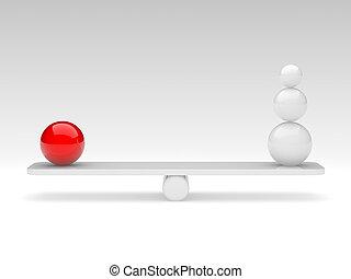kule, porównać, (balance, concept)