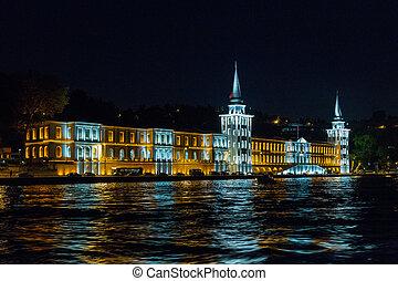 Kuleli military high school, Bosphorus, Istanbul, Turkey -...