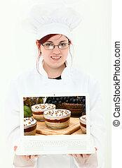 kulinarny, laptop, student