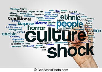 kultur, schock, wort, wolke