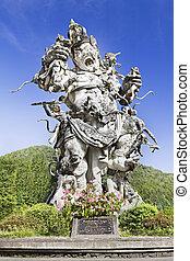 Kumbakarna Laga statue in Eka Karya Botanical Garden, ...