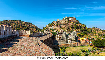 Kumbhalgarh fort, Rajasthan, India. Kumbhalgarh is a Mewar ...