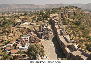 Kumbhalgarh Fort - Massive ramparts of Kumbhalgarh Fort,...
