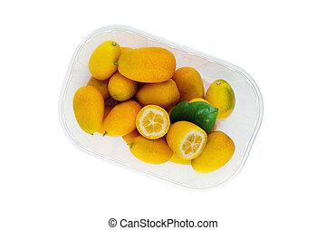 kumquat isolated on white backgraund