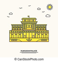 KUMSUSAN PALACE Monument Poster Template. World Travel...