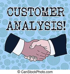 kund, information, kolleger, manlig, skjorta, affär, foto, företag, s, skrift, blandras, suit., examen, analysis., systematisk, skaka, begreppsmässig, hand, text, visande, formell