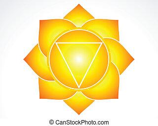 Kundalni sacral chakra vector illustration
