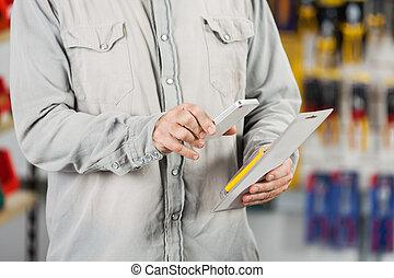 Kunde, Abtastung,  mobilephone, Werkzeug, Paket, durch