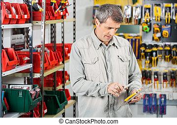 Kunde, Abtastung,  smartphone, Werkzeug, Paket, durch