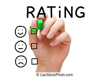 Kunde, befriedigung, begriff, Bewertung
