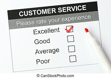 Kunde, befriedigung, Vermessung,  service,  form