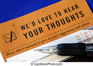 kunde, blå, feedback, fylde, isoleret, give en oversigt over