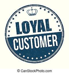 kunde, briefmarke, loyal, oder, zeichen