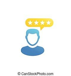 kunde, erfahrung, kritik, ikone
