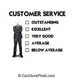 Kunde, Geschaeftswelt,  service, Auswählen, wahlmöglichkeit,  form, Auswertung, Mann