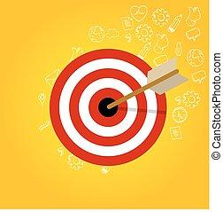 Kunde, kopf, begriff, Zielen, ziel, Geschaeftswelt,  Marketing, Verstand, nische, Markt