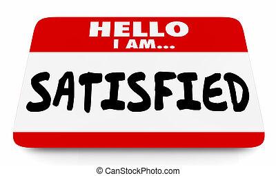 kunde, navn, tilfredsstill, illustration, tilfredshed, person, etiketten, 3