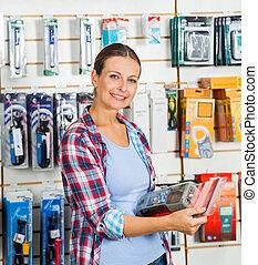 Kunde, PRODUKT,  Hardware, kaufmannsladen, Besitz, gepackt