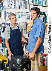 Kunde, reisekoffer, Werkzeug,  Hardware, kaufmannsladen, Kaufen