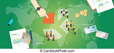 kunde, segmentation, segment, geschäftskonzept, marketing, markt, leute, ziel