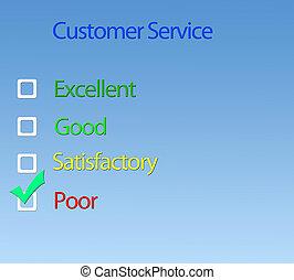 kunde, service.