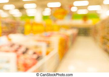 kunde, shoppen, an, supermarkt, kaufmannsladen, mit, bokeh, licht