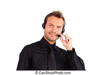 kunde, vertreter, service, attraktive, feundliches , mann