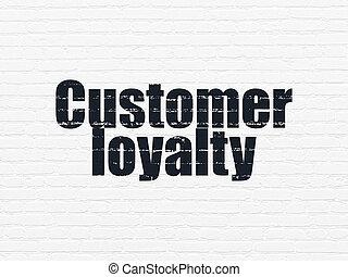 Kunde, Wand,  Marketing, Loyalität, hintergrund,  concept: