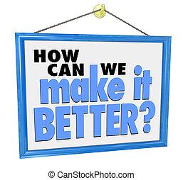 kunde, wir, f, machen, frage, ihm, zeichen, besser, wie,...