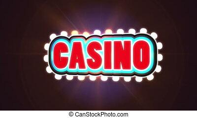 kunden, kasinovorzeichen, gefunkel, anziehen, rotes