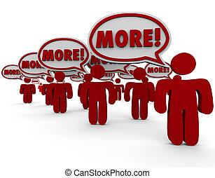 kunden, leute, hinzufügung, verlangen, publikum, ...