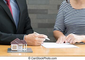 kunden, prozess, empfohlen, daheim, verkäufer, kaufen