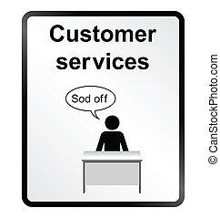 kundendienste, informationen zeichen