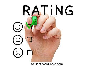 kundenzufriedenheit, bewertung, begriff