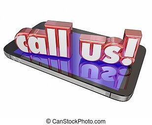 kundtjänst, rop, stöd, oss, cell, kontakta, tech, folkhop, nu, beställa