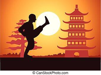 kung, boxeo, chino, fu