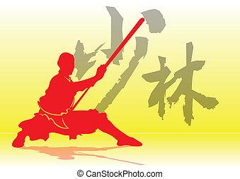 kung-fu., chinees