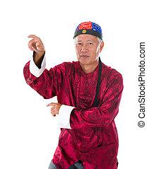 kung fu, maestro, wong, fei, colgado