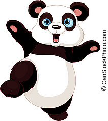 Kung fu Panda  - Cute Panda doing martial art
