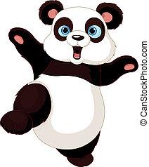 Kung fu Panda  - Cute Panda doing martial art
