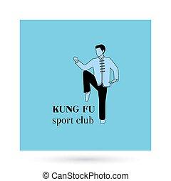 Kung fu sport club logo design