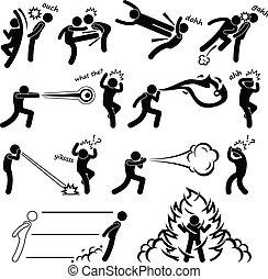 kungfu, vechter, fantastisch, macht, mensen