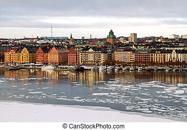 Stockholm in winter.