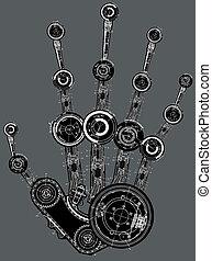 kunst, abbildung, menschliche hand